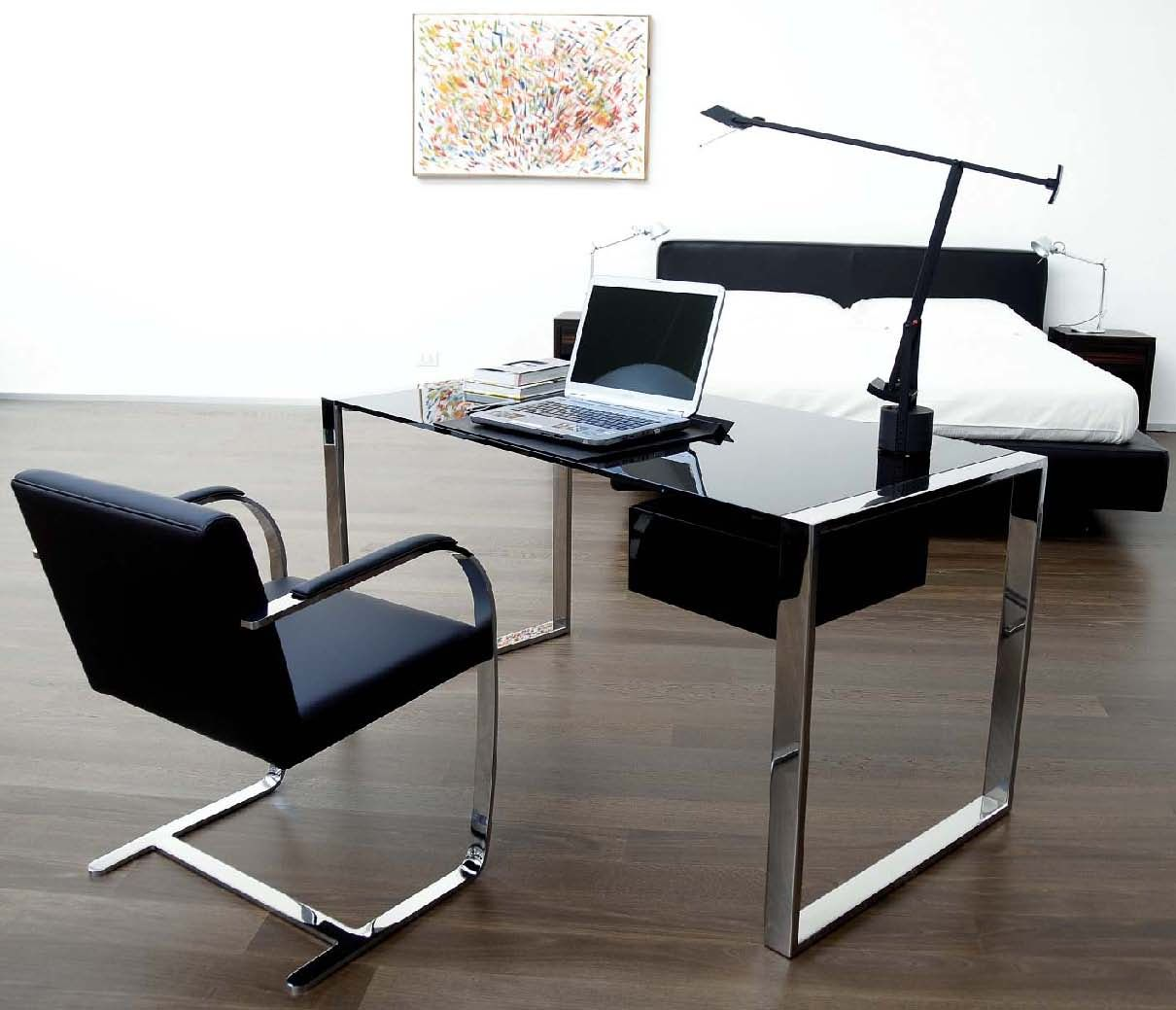 50 Elegant Desk Designs For Home Office With Office Computer Desk Design Freestanding Elegant Chrome Ba Office Desk Designs Computer Desk Design Desk Furniture