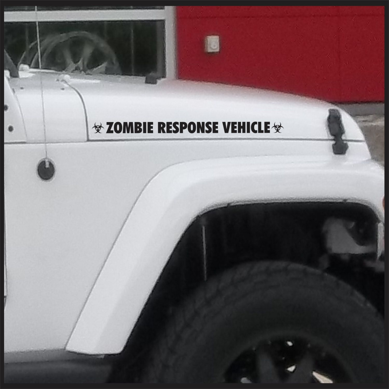 Zombie response vehicle sticker set for jeep vinyl decal apocalypse car truck 4x4 funny bumper