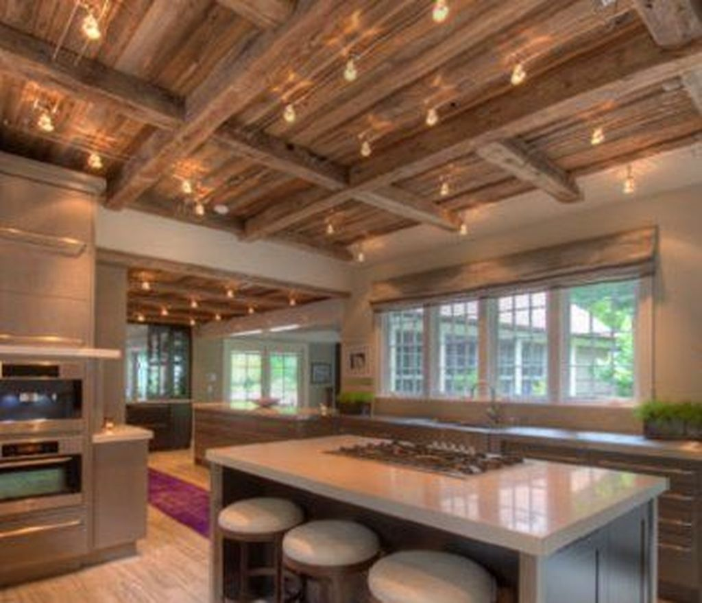 20 Cool Basement Ceiling Ideas: Cool Rustic Wooden Ceiling Design Ideas 20 In 2020