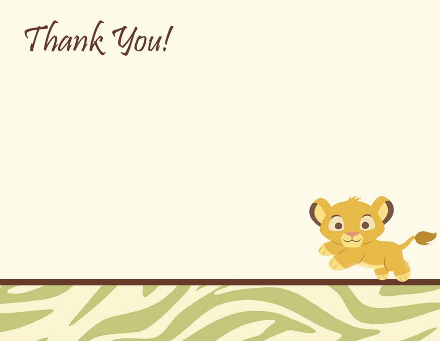 lion king baby shower thank you cards | Mi bebe | Pinterest | Lion ...