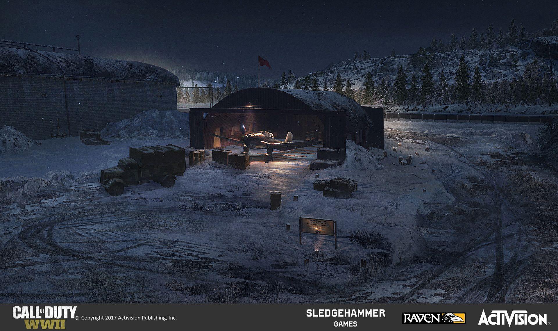 ArtStation Call of Duty WWII Ambush, natoyan pyo