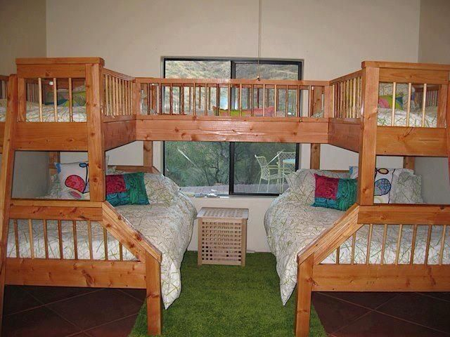 Multi Sleeper Bunk Beds Great Use Of Space And A Sturdy Climbing