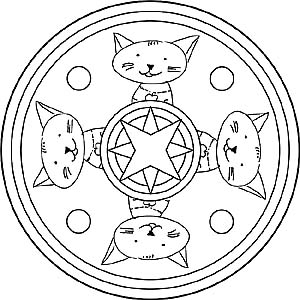 Animal Mandalas Coloring Pages With