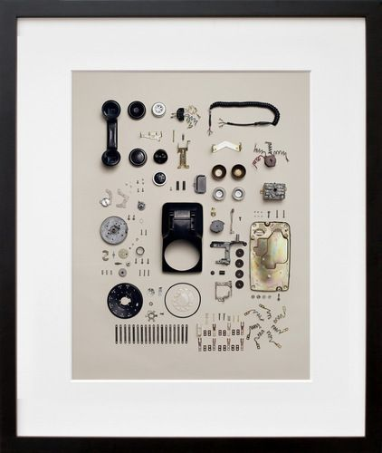 Unique Display: Custom framed telephone parts...what a great gift idea! #customframing #walldecor #gift