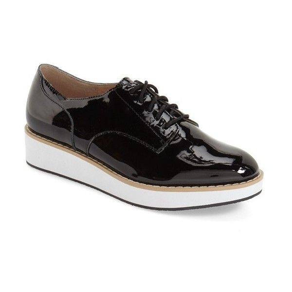 Women's Steve Madden 'Raant' Oxford (600 GTQ) ❤ liked on Polyvore  featuring. Black Wedge ShoesPlatform ...