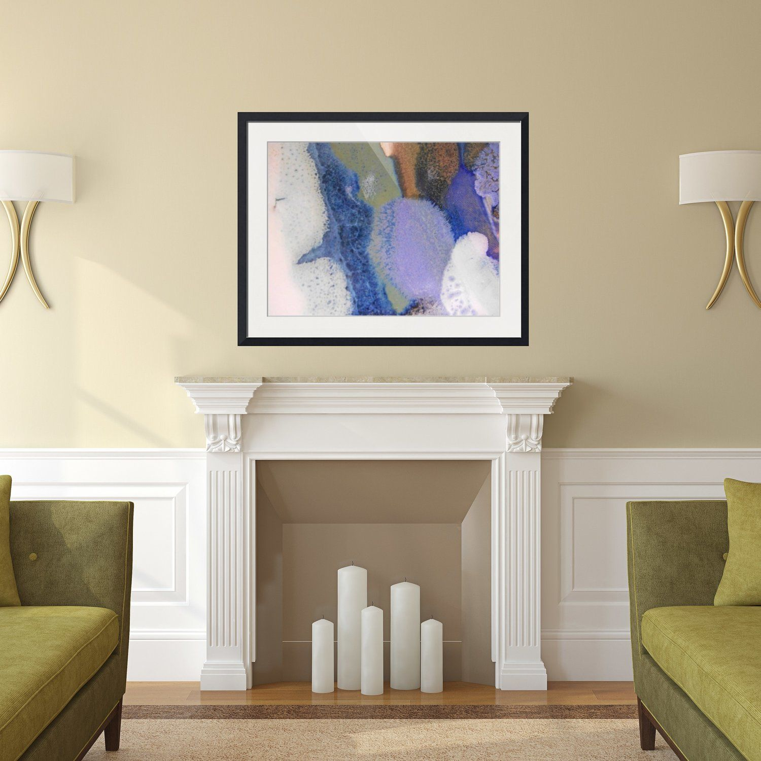 Abstract Framed Wall Art - Rectangle #44 | Fireplace Mantels + ...