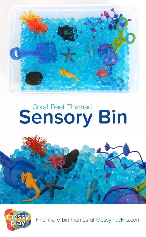 Coral Reef Sensory Bin Activities With Kids Sensory