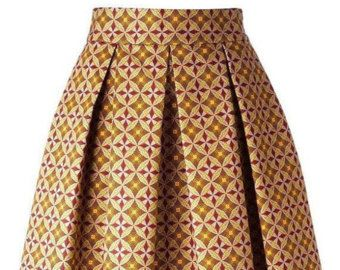 jupe midi ankara jupe ankara pagne tissu africain par sleeklife bo pagnes pinterest jupe. Black Bedroom Furniture Sets. Home Design Ideas
