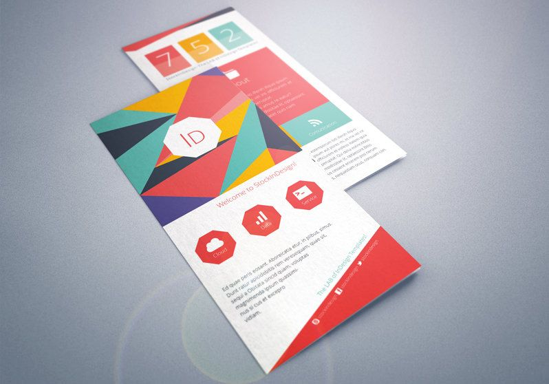 Flat Tri Fold Brochure Indesign Template Diseo Pinterest