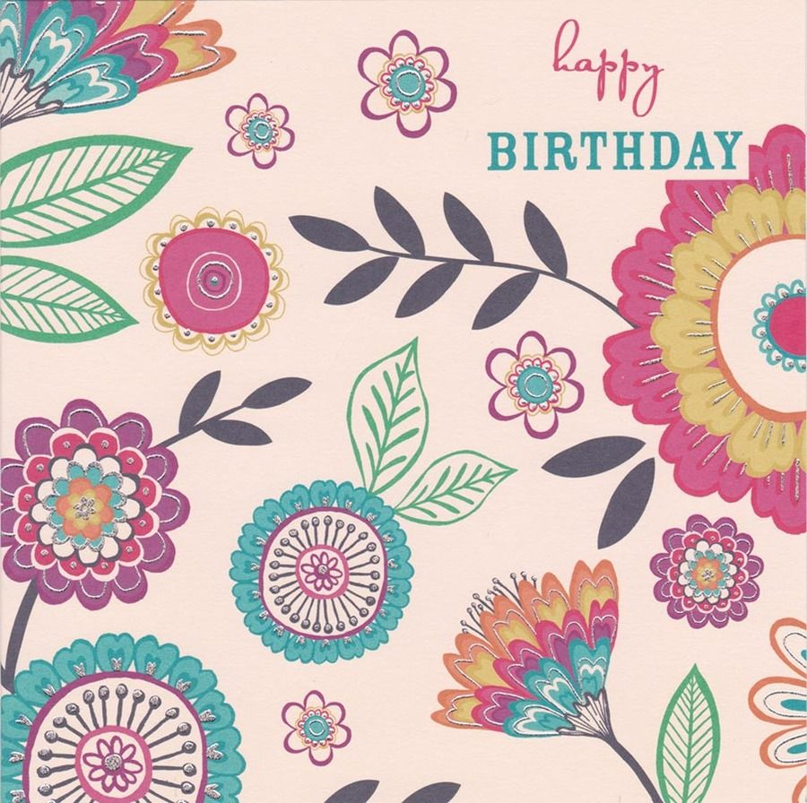 Carlton Cards Flowers Happy Birthday Card Birthday Quotes