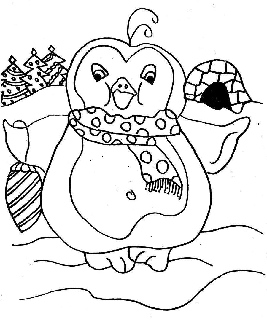 The Big Penguin Coloring Page | Penguin | Pinterest
