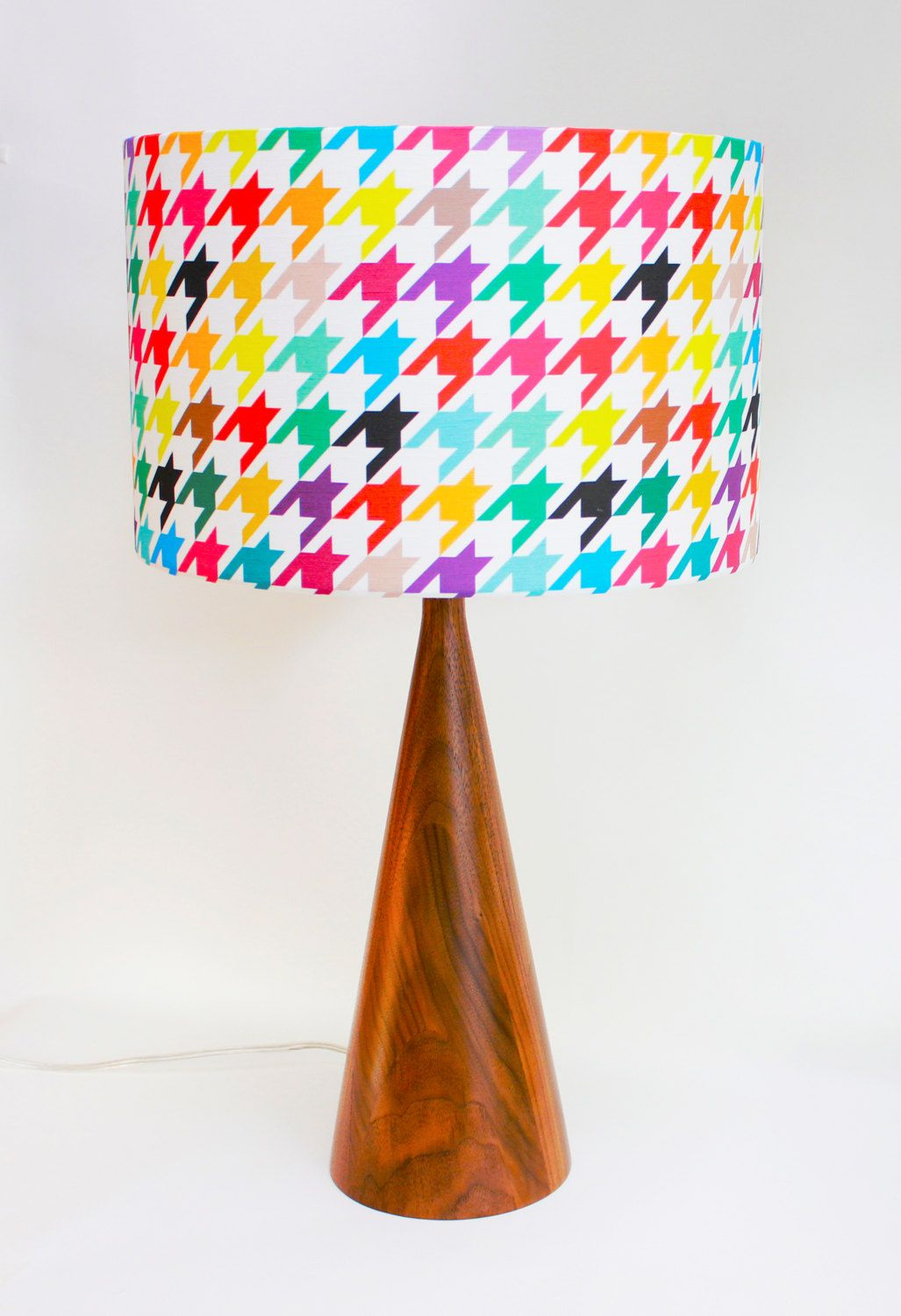 Turned Wood Lamp Base with Houndstooth Lamp Shade | wood | Pinterest ... for Turned Wood Lamp Shade  157uhy