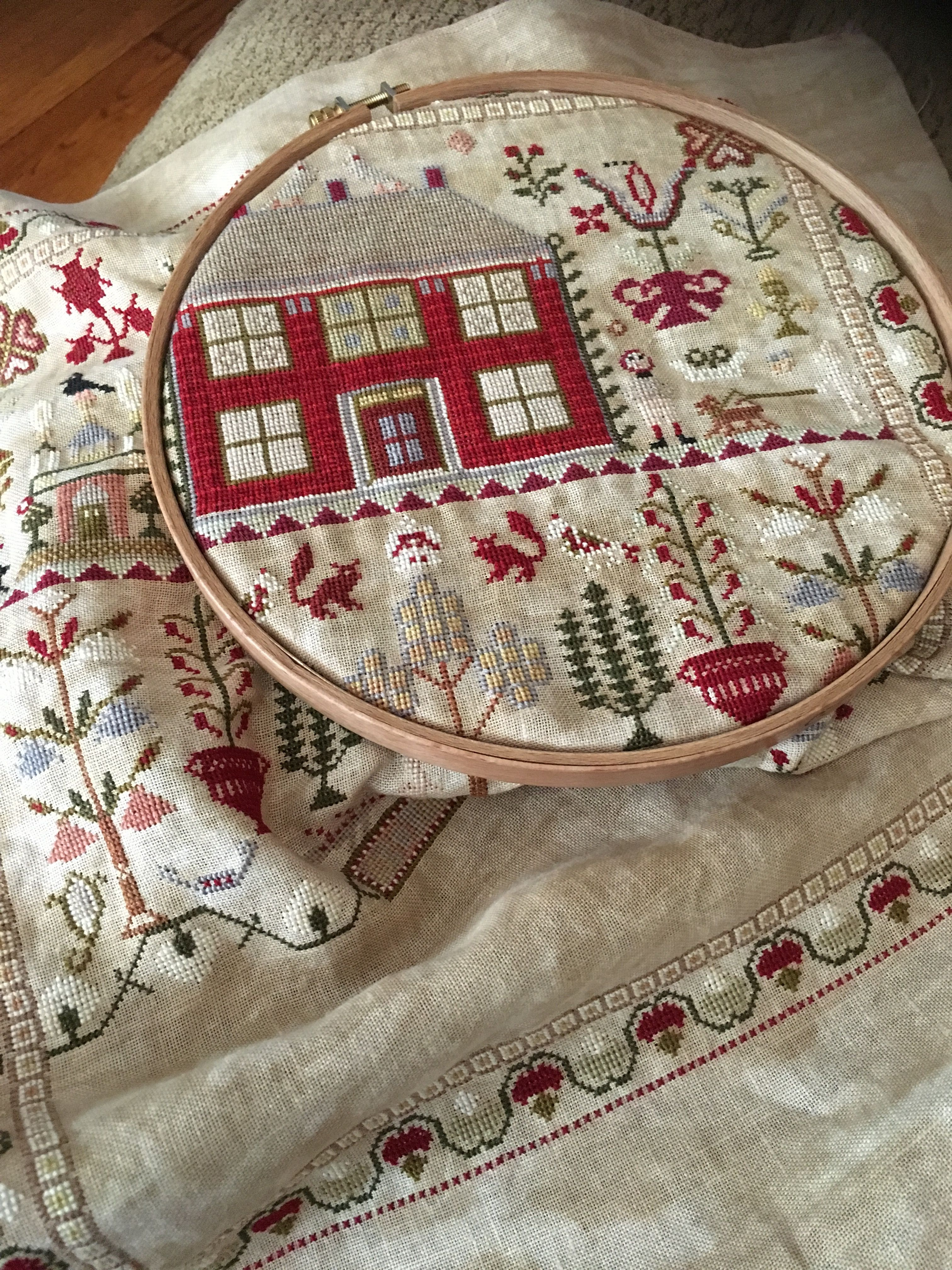 In My Hoop Esther Iddison Dlh Cross Stitch Samplers Cross Stitch Embroidery Cross Stitch