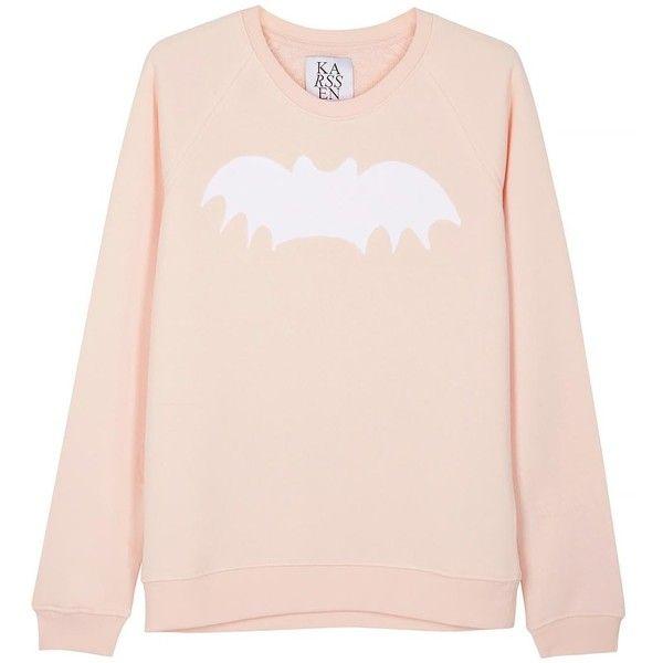Womens Sweatshirts Zoe Karssen Bat Soft Pink Jersey Sweatshirt ...