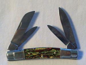United Boker Christmas Tree Handle 4 Blade Pocket Knife 3 1 2 Closed Pocket Knife Boker The Unit