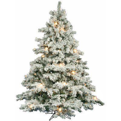 The Holiday Aisle Flocked Alaskan 6.5' White Artificial Christmas ...