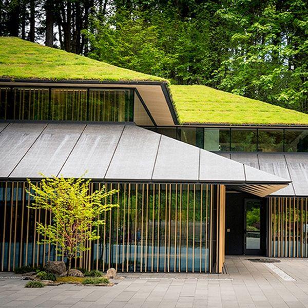 "Japanese Architect Adds Eco-Friendly ""Cultural Village"" to Portland's Japanese Garden -   11 garden design Luxury architecture ideas"