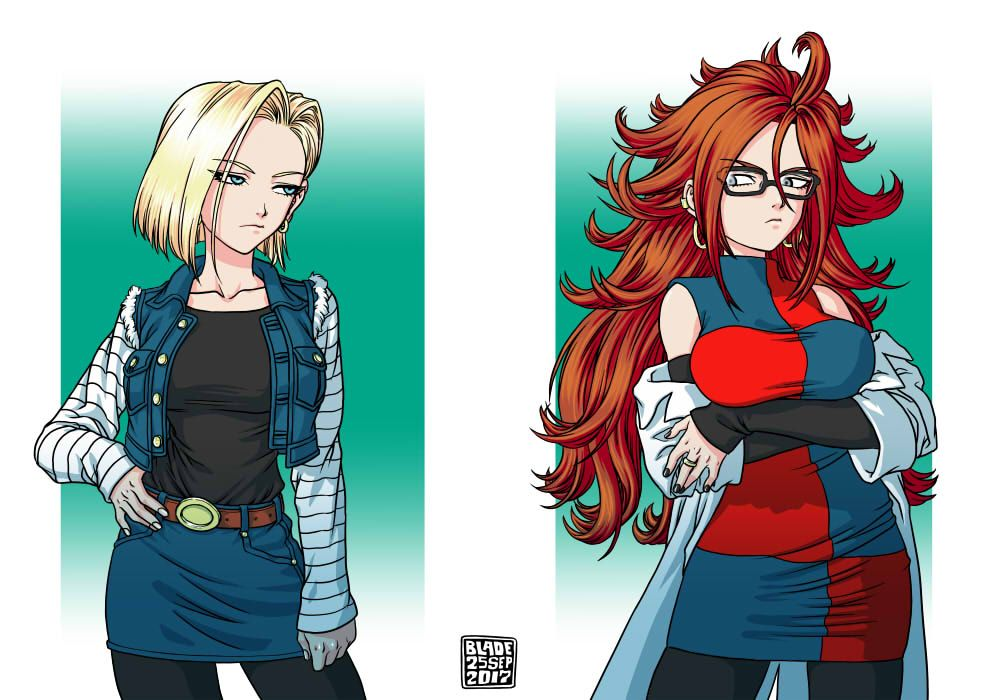 Android 18 and android 21 dbz - Dragon ball z 21 ...