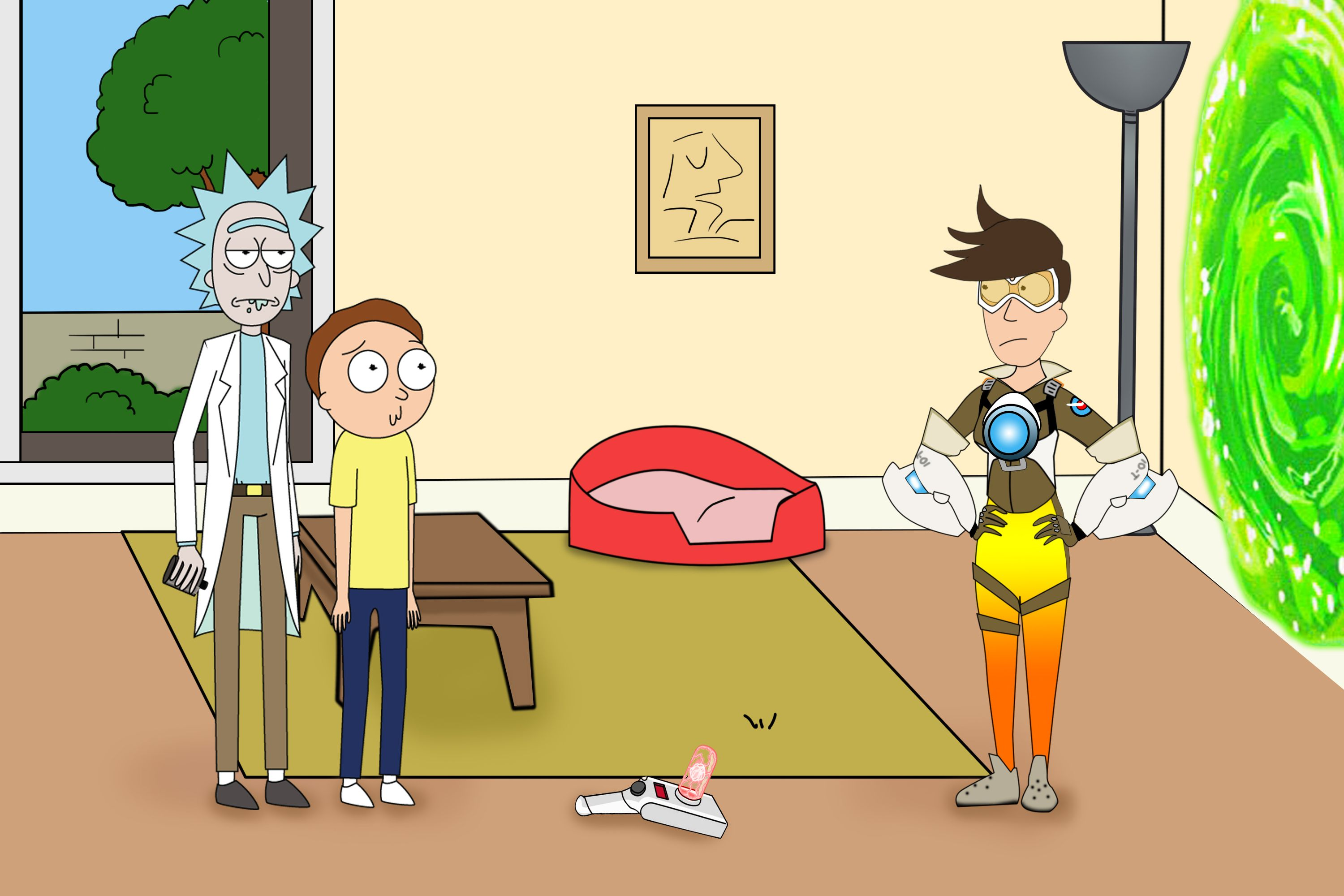 Rick and Morty and Tracer #myart #art #rickandmorty #tracer ...