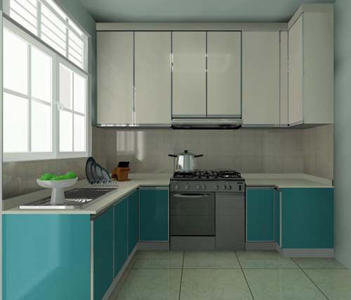 Kabinet Dapur Dengan Susun Atur Berbentuk U Small Kitchen Cabinet Design Simple Kitchen Design Kitchen Design Small Space