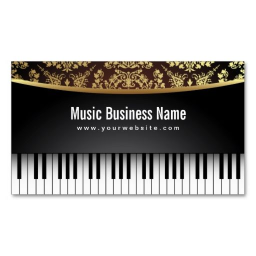 Luxury Realistic Piano Music Lessons Business Card This Is A
