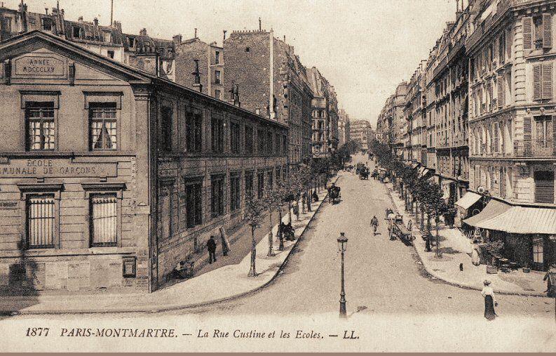 Les Anciennes Rues De Paris Rue Custine 18eme Arrondissement Rue De Paris Paris Vieux Paris
