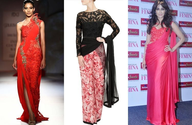 Saree Gown Designs Are A Fusion Of Gowns And Traditional Sarees ...