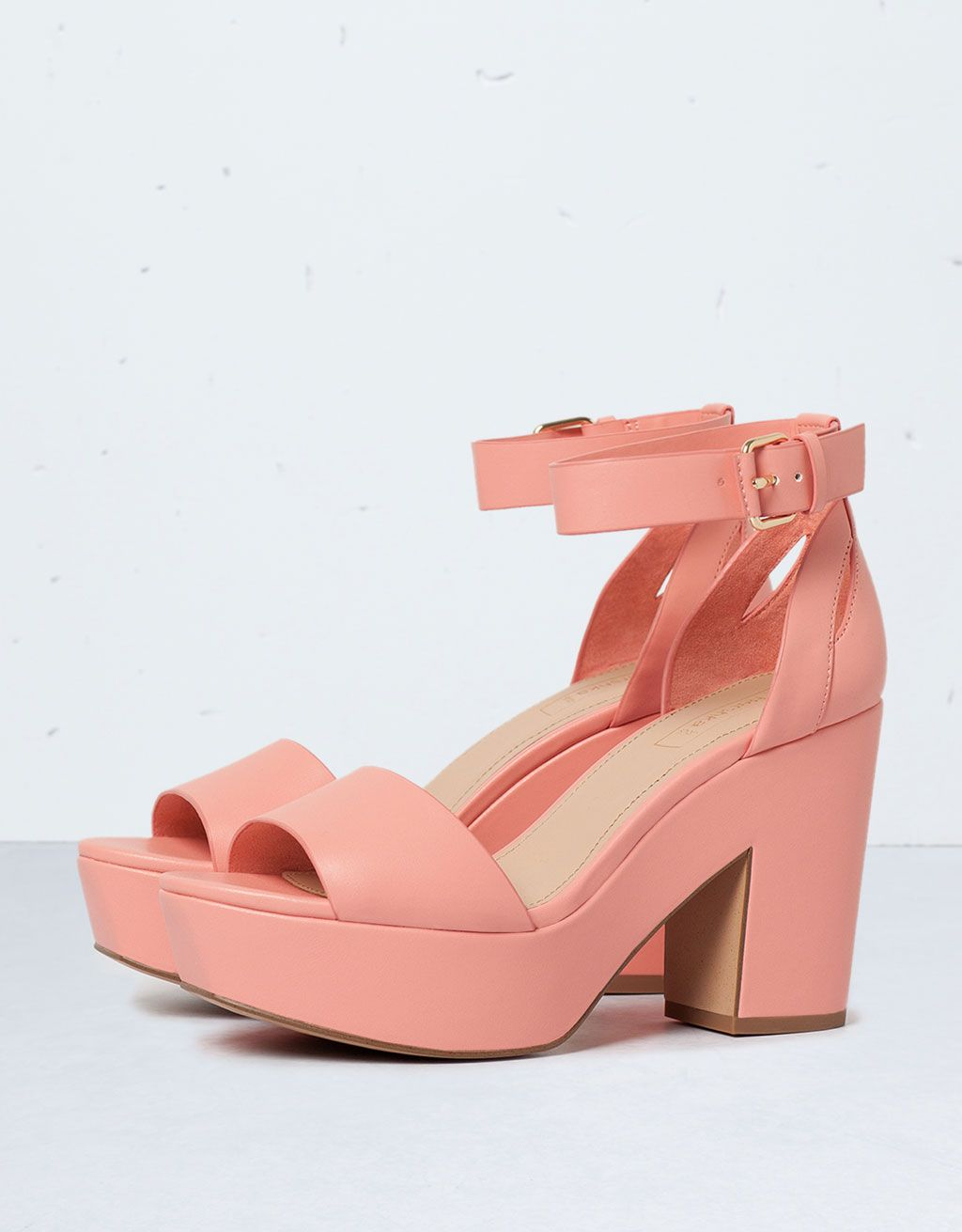d58e546a585b Bershka medium heel sandals - Shoes - Bershka Serbia