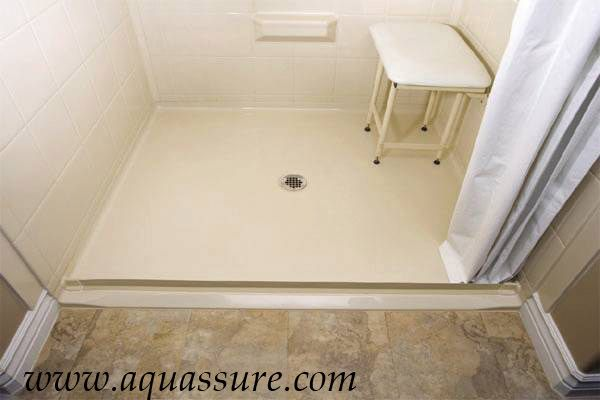 waterstopper installed in a shower easy access for wheelchair users