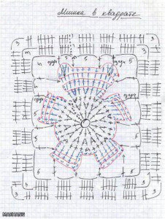 manta a crochet | manta | Virkning, Virka y Virkade rutor