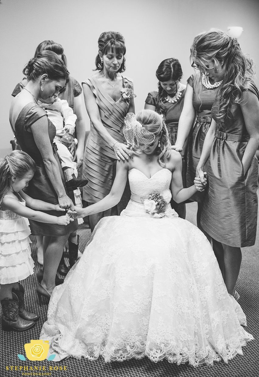 Sweet Moments Before The Wedding Ceremony