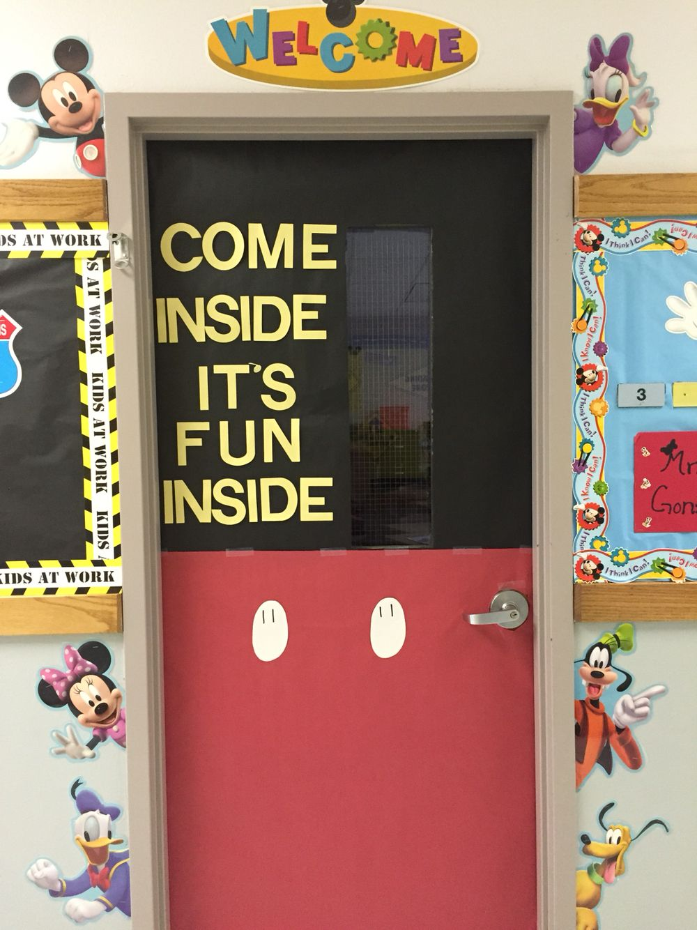 Classroom Ideas Year 7 ~ Disney classroom theme mickey mouse door first