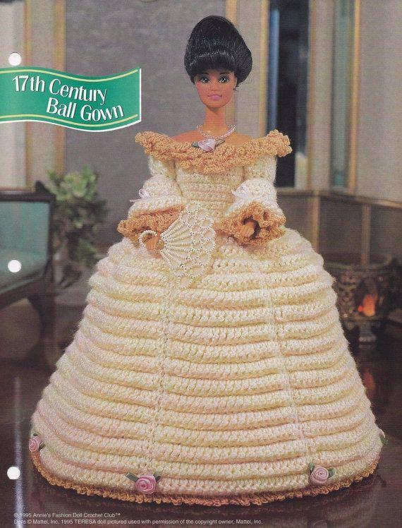 17. Jahrhundert Ballkleid Annies Modepuppe Kleidung häkeln   Barbie ...