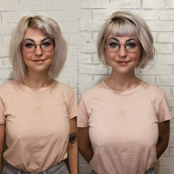 95 Hairstyles For Round Faces Best Haircut For Round Face 2020 In 2020 Thick Hair Styles Bob Haircut With Bangs Hair Styles