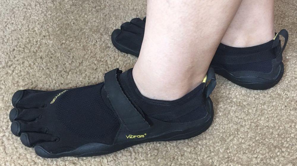 Vibram Five Fingers Black M148 Minimalist Running Velcro Strap Size 43 or US 11 #Vibram #RunningCrossTraining