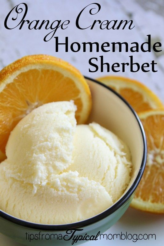 Homemade Orange Cream Sherbet