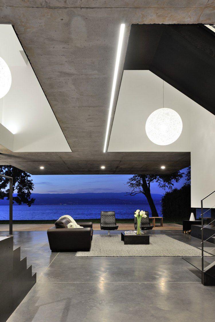 House On The Lake By Au M Architectes Maison Au Bord Du Lac Maisons Contemporaines Agence Architecture