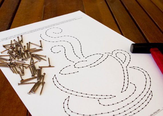 String art pattern \