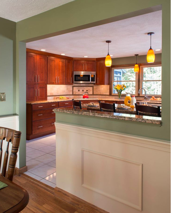Kitchen To Dining Room Transition Counter Kitchen Remodel Small Half Wall Kitchen Kitchen Remodel Layout