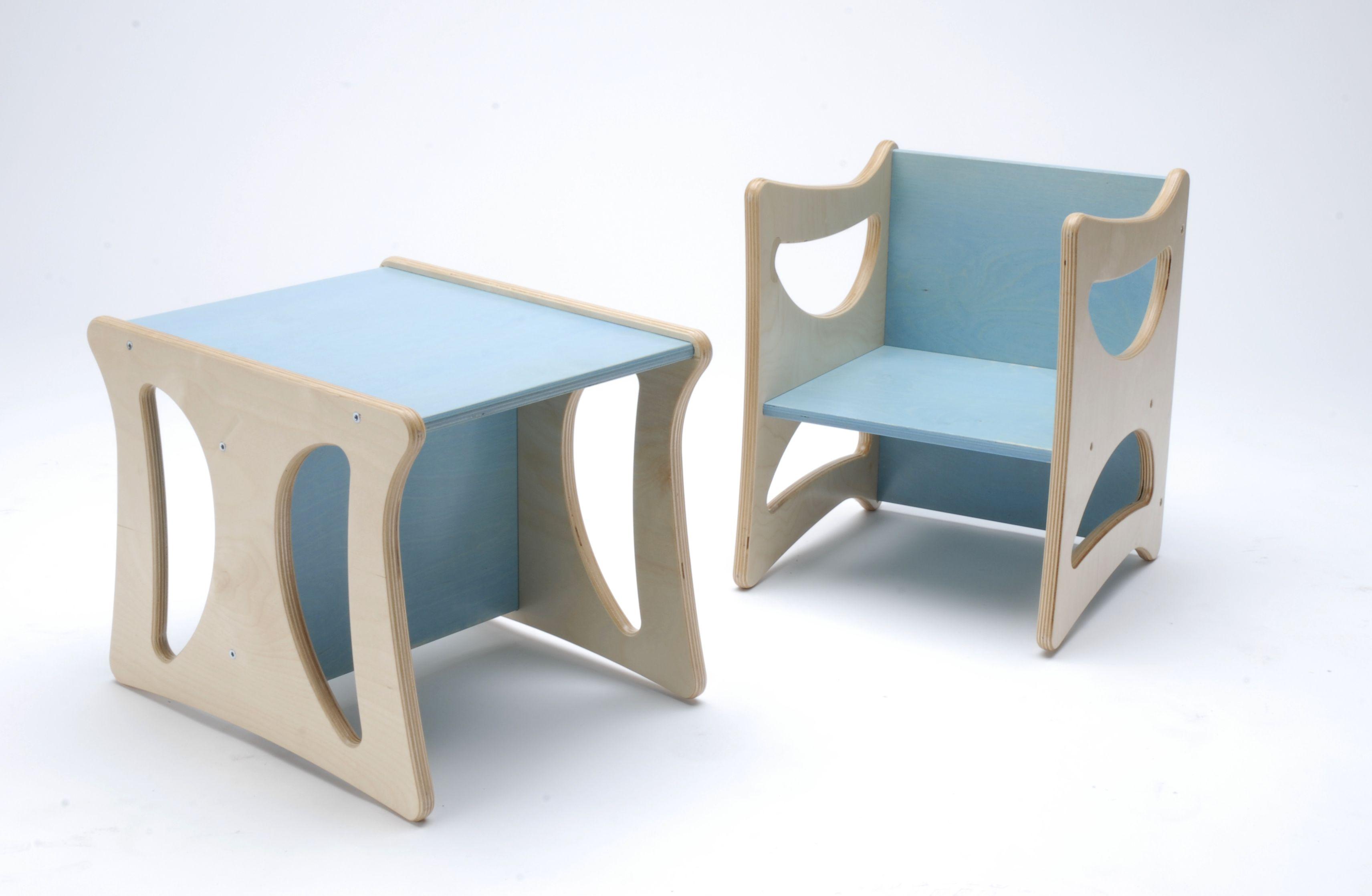Sedia in legno per bambini reversibile e multiuso ...