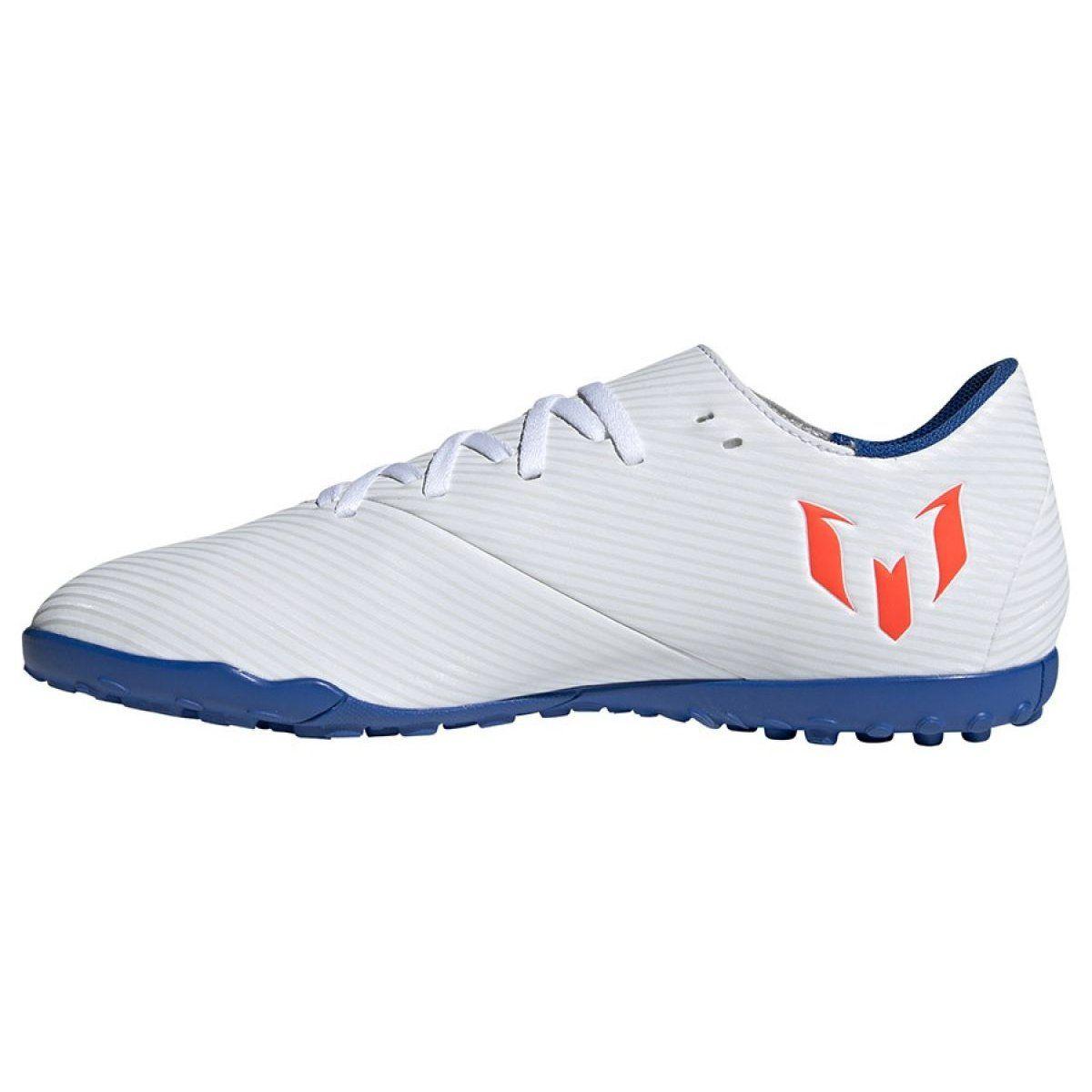 Football Boots Adidas Nemeziz Messi 19 4 Tf M F34549 White Multicolored Football Boots Messi Football Shoes Adidas Brand