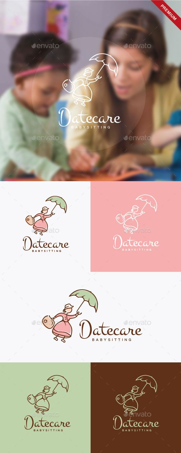 daycare babysitting logo template vector eps ai illustrator logotype download here http