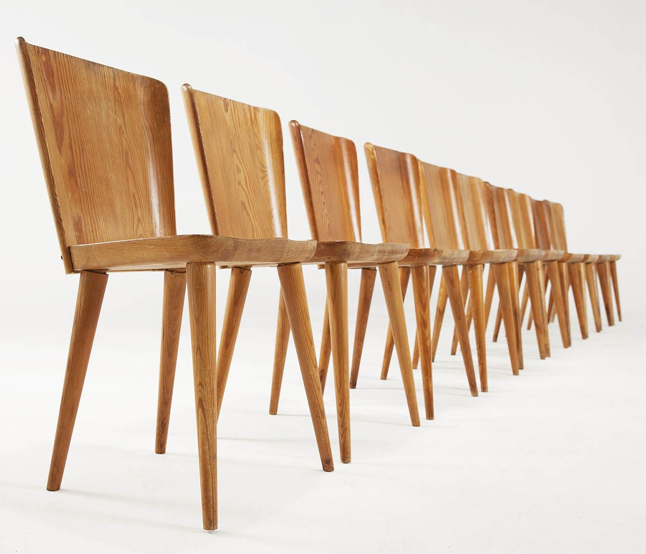 Large Set (16 Pcs) Of Goran Malmvall Solid Pine Chairs | Gorgeous |  Pinterest | Pine Chairs, Pine And Dining