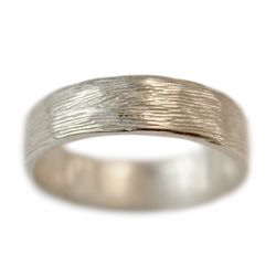 As close to rustic as wedding bands get. Wide Branch Wedding Band | Handmade Wedding Rings | Turtle Love Co. Jewelry
