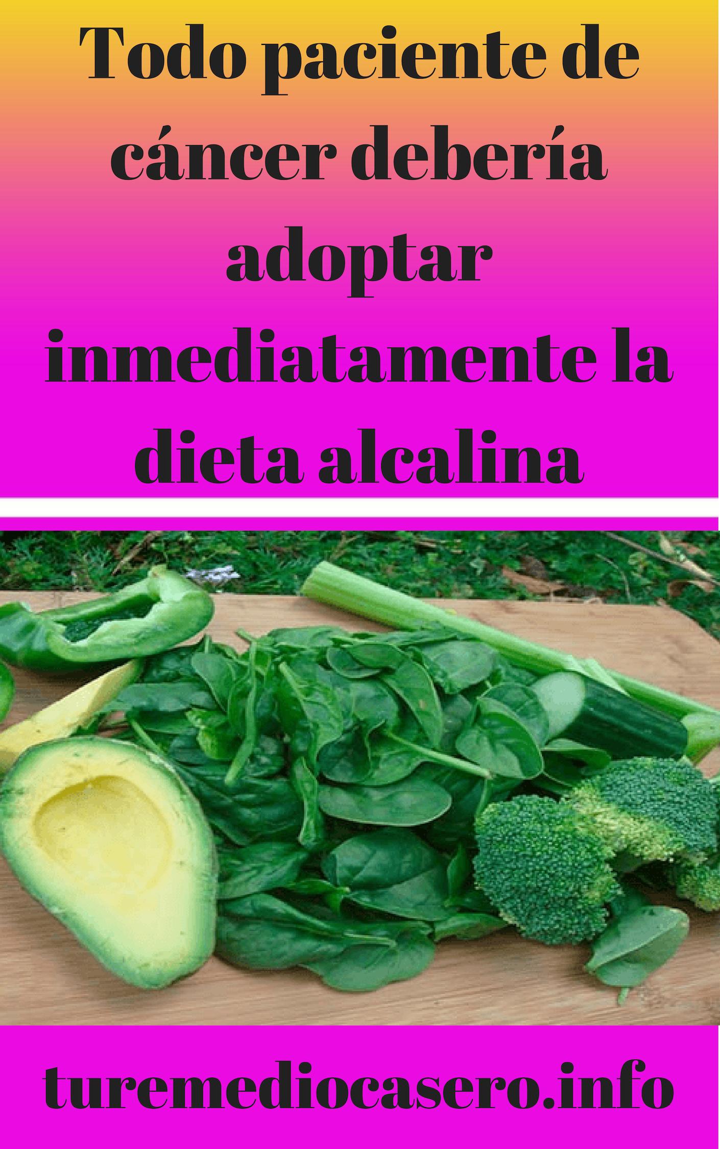 Dieta alcalina cancer colon