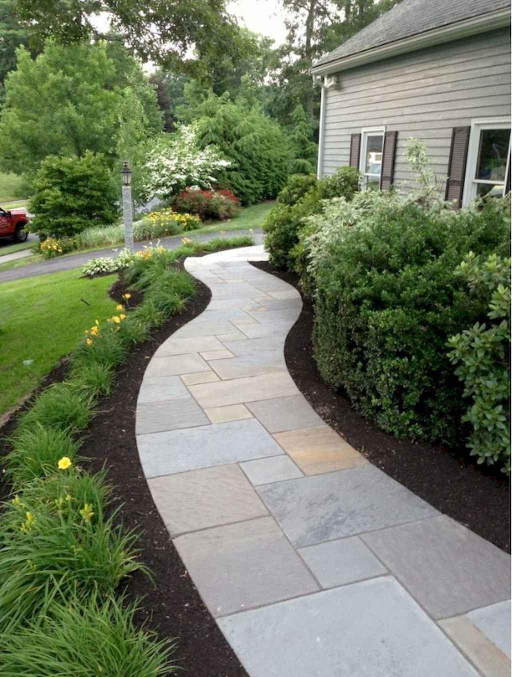 04 beautiful side yard garden path design ideas in 2020 ... on Side Yard Walkway Ideas id=47493