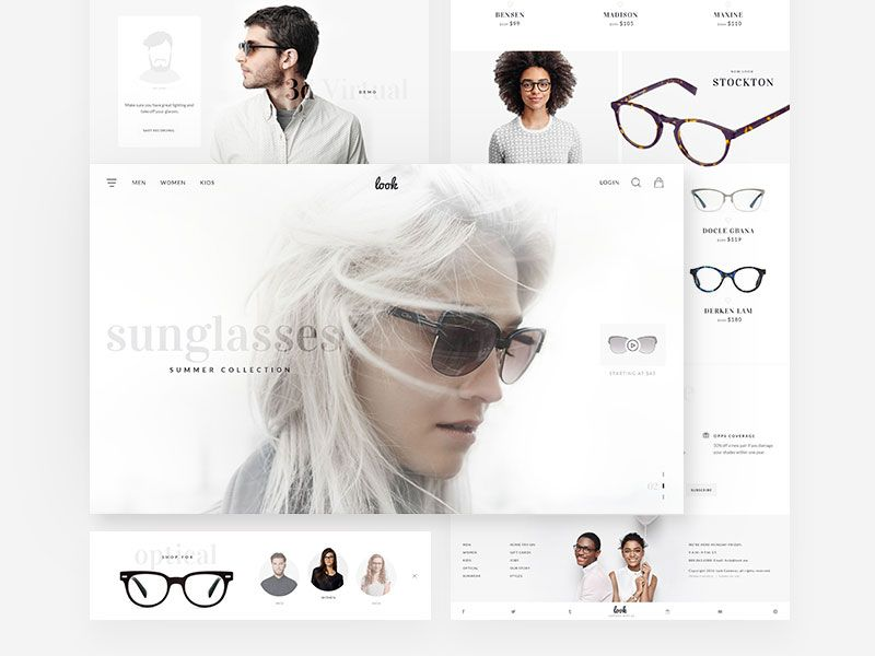 Sunglass Web Design Web Design Design Web Graphic Design