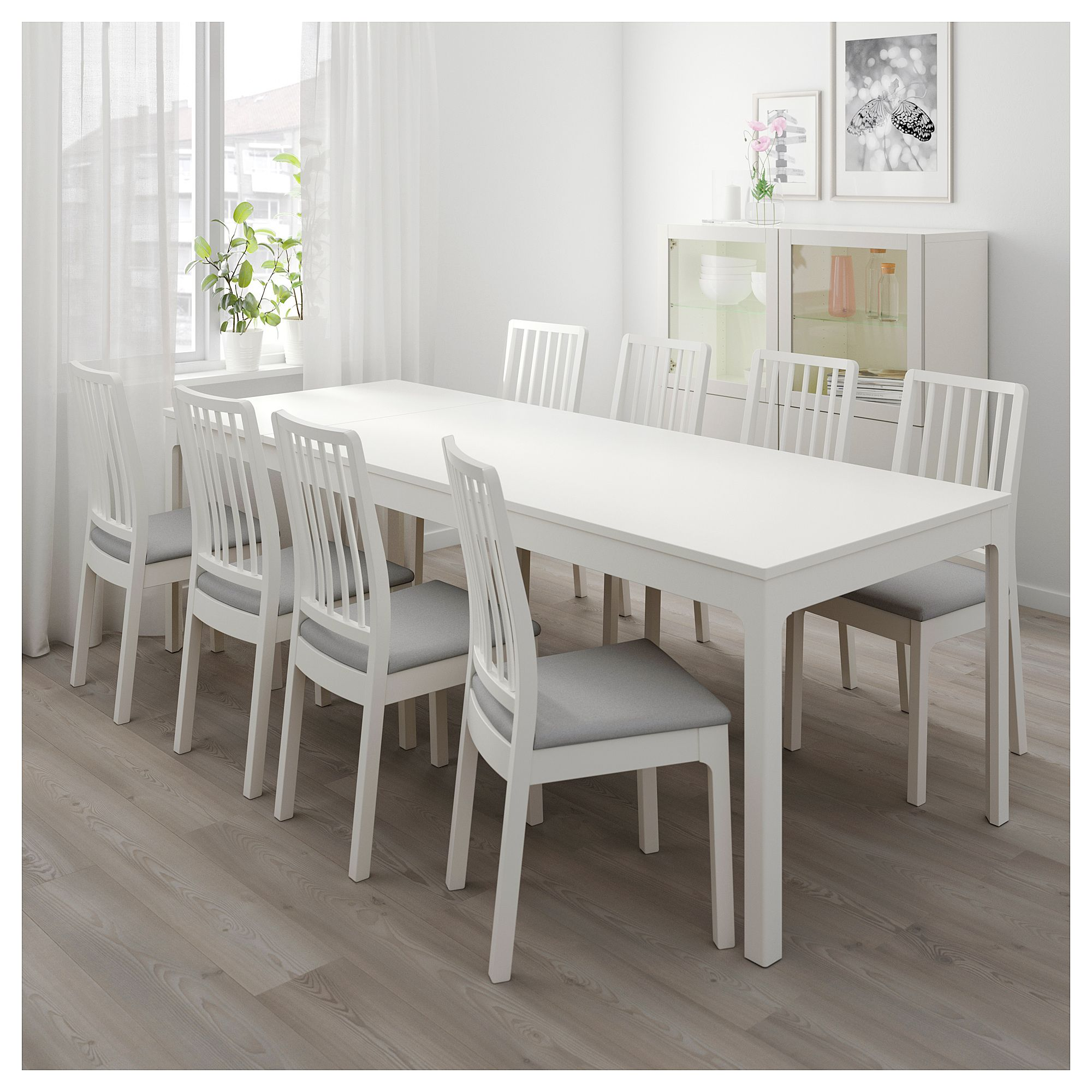 Fresh Kitchen Ikea Kitchen Table And Chairs Set With: EKEDALEN / Table And 6 Chairs White, Orrsta Light