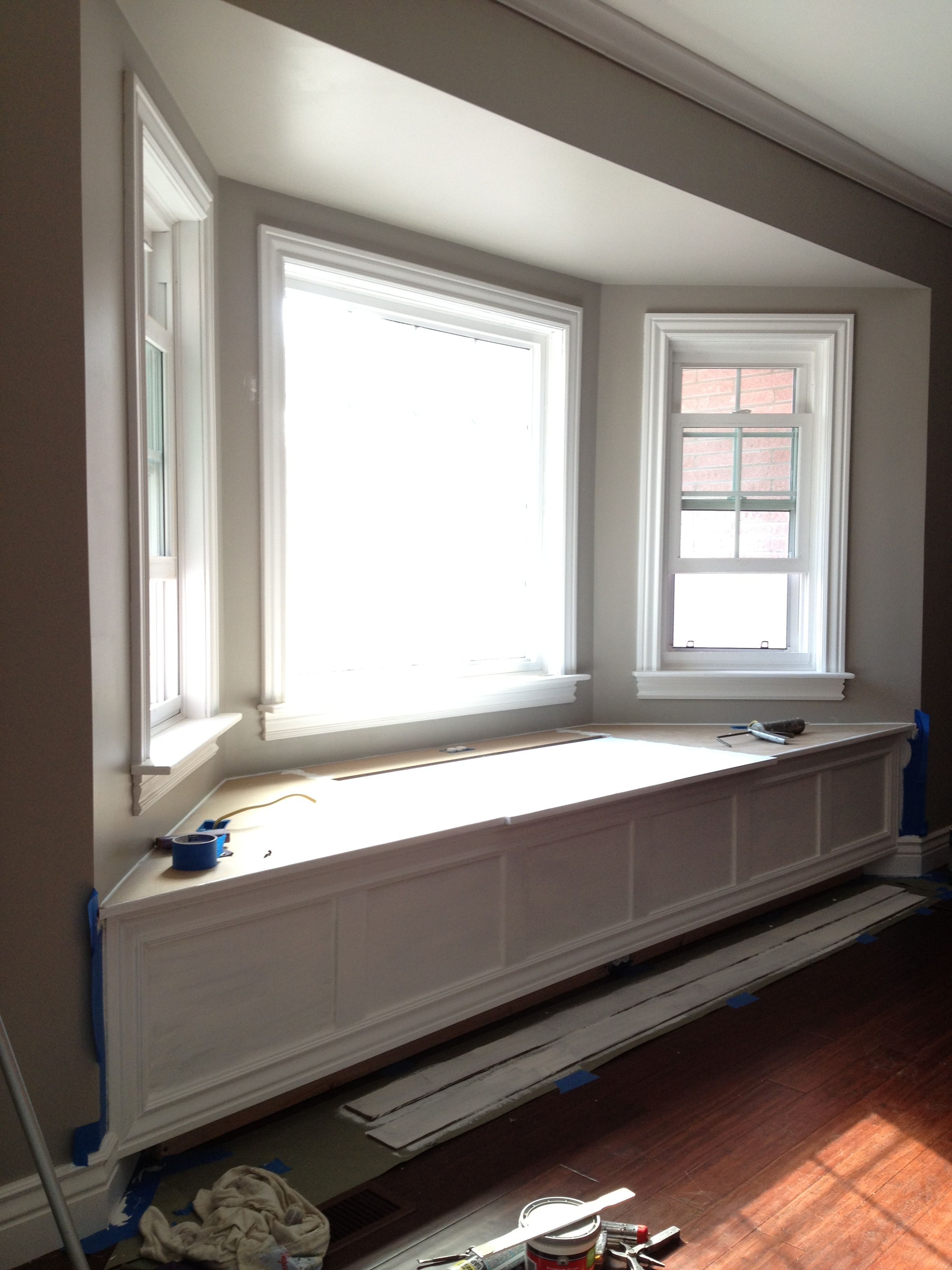 bay window area painted lighter than surrounding walls ...