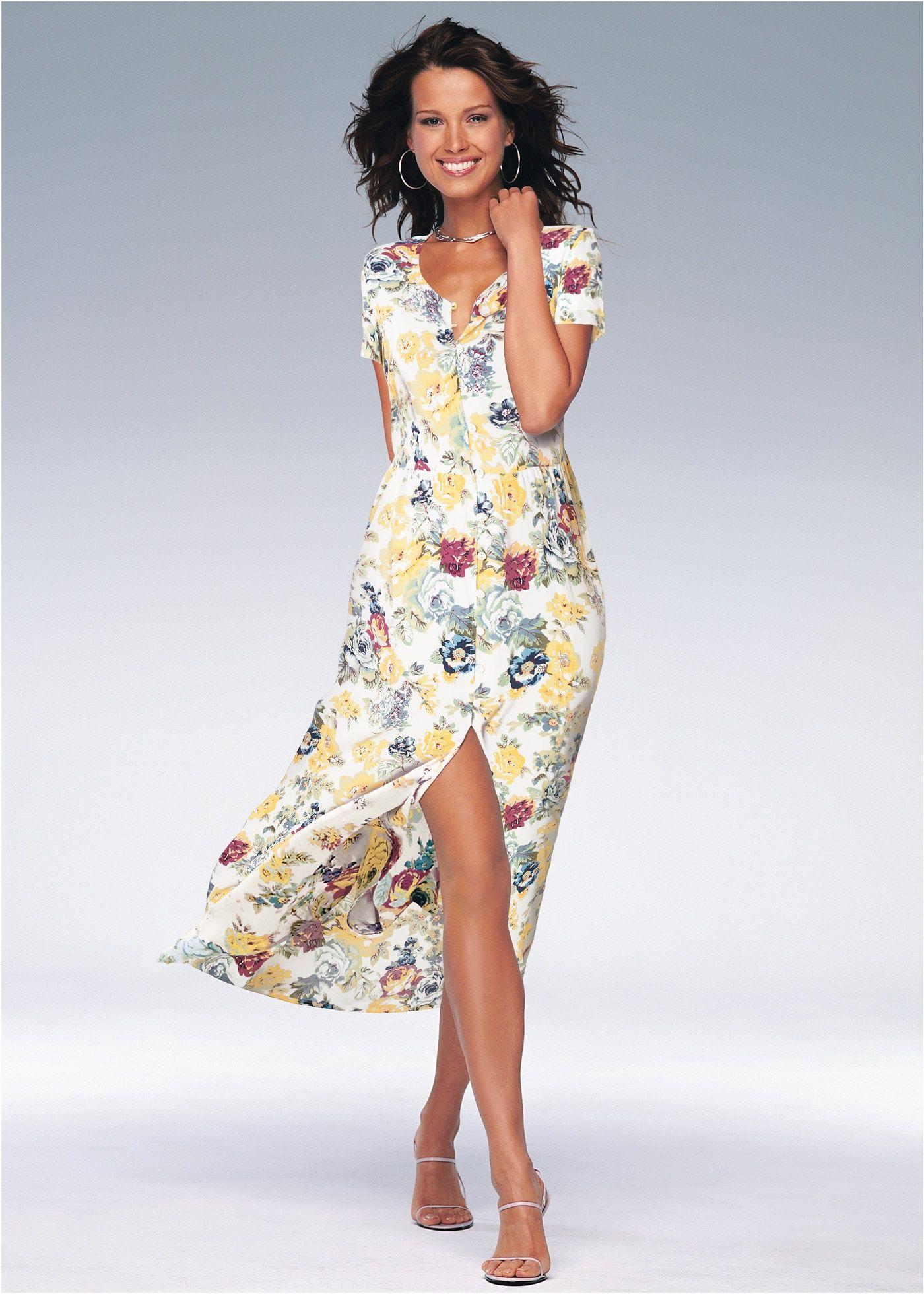 f3c75c5728a0 Hemdblusenkleid wollweiß/hibiskuspink bedruckt - bpc selection jetzt ...
